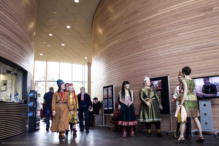 Inside of Sámi Culture Centre Sajos