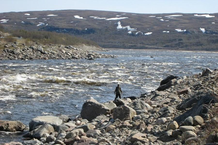 Fishing at River Teno